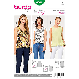 Patron Burda 6501 Top