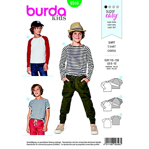 Patrón Burda  Kids 9346 Camiseta