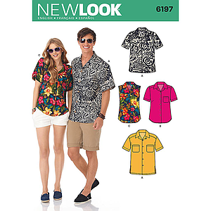 Patrón New Look 6197 Camisa mixta