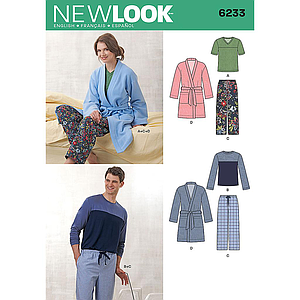 Patrón New Look 6233 Pijama