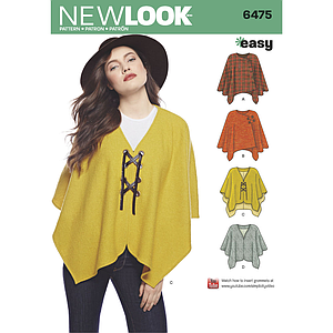 Patrón New Look 6475 Poncho