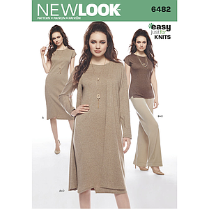 Patrón New Look 6482 Conjunto dama